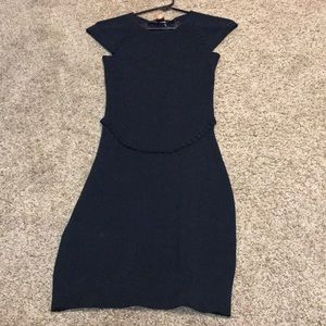 Gorgeous French Connection Black Body Con Dress